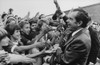 Nixon 1972 Re-Election Campaign. Nixon Being Greeted By School Children During A Campaign Stop. History - Item # VAREVCHISL032EC135