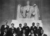 1963 March On Washington. Leaders Of The March Posing In Front Of The Statue Of Abraham Lincoln History - Item # VAREVCHISL033EC492