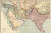 1912 English Map Of The Countries Between Constantinople And Calcutta Including Turkey In Asia History - Item # VAREVCHISL001EC011