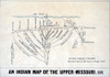 1801 Indian Map Of The Upper-Missouri. History - Item # VAREVCHISL001EC161