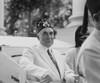 President Warren Harding Wearing Ceremonial Hat Of Fraternal Organization. Harding Was A Freemason History - Item # VAREVCHISL002EC133