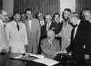 President Eisenhower Signs A Bill As Senate Majority Leader History - Item # VAREVCHISL033EC263