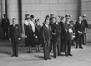 Presidents Franklin Roosevelt And Anastasio Somoza Of Nicaragua. Group Stands At Attention During 21-Gun Salute In Somoza'S Honor History - Item # VAREVCHISL036EC020