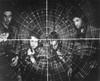 U.S. Sailors At A State Of The Art Radar Scope During World War 2. Ca. 1944-45. History - Item # VAREVCHISL037EC859