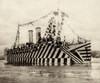 British Ww1 Transport Osterle Camouflaged With Zebra Stripes. Nov. 11 History - Item # VAREVCHISL035EC090