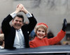 President Ronald Reagan And First Lady Nancy Reagan Waving From The Limousine During The Inaugural Parade In Washington History - Item # VAREVCHCDARNAEC092