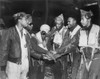 Six African American Air Force Gunners Join Hands. They Are Part Of 17Th Bomb Wing Night Interdiction Teams In Korea. Air Interdiction Attacked Ground Targets Not Close To Friendly Ground Forces. Korean War History - Item # VAREVCHISL038EC188