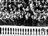 Dwight Eisenhower First Inauguration. L-R Bess Truman Mrs. John Eisenhower Patricia Nixon History - Item # VAREVCCSUA000CS191