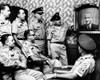 Military Men At New York'S 71St Street Armory Watch President Lyndon Johnson'S Address On The Us Build-Up In Vietnam. July 28 History - Item # VAREVCCSUA000CS761