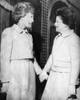 First Lady Patricia Nixon Hold Hands With Second Lady Judy Agnew. History - Item # VAREVCPBDPANIEC003