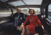 President And Betty Ford Hold Hands While Riding In The President'S Limousine In Chicago Illinois. 1974-76. History - Item # VAREVCHISL030EC072