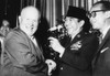 Indonesia'S Neutralist President Sukarno With Soviet Premier Nikita Khrushchev. They Were Attended A Reception At New York'S Waldorf Astoria Hotel History - Item # VAREVCCSUB001CS805