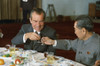 Nixon In China. President Richard Nixon And Chinese Premier Zhou Enlai Toast At A Banquet. February 25 1972. History - Item # VAREVCHISL032EC129