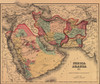 1855 Map Clearly Shows The Political And Cultural Geography Of The Middle East. The Ottoman And Persian Empires Boundary Lies To The East Of Mesopotamia History - Item # VAREVCHISL001EC027