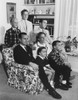 The George Bush Family In 1964 In Houston. Standing L-R Neil Jeb And George Jr. Seated L-R George Sr. Dorothy Barbara And Marvin. History - Item # VAREVCHISL023EC226