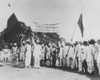 Satyagrahi' Volunteers In Bombay Salute The National Congress Flag. India History - Item # VAREVCCSUB001CS879