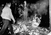Students Burn Garbage In The Latin Quarter Of Paris As New Violence Erupted Early May 23 History - Item # VAREVCCSUA001CS515