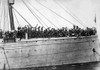 U.S. Soldiers Aboard Hancock About To Sail For France. World War I. 1917. History - Item # VAREVCHISL034EC615