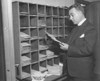 Charles Coughlin Looking At His Mail In 1934. At His Top Popularity In The Early 1930S History - Item # VAREVCCSUB001CS781