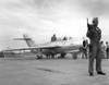 Soviet Mig-15 Jet Fighter Delivered By Defecting North Korean Pilot Lt. No Kum-Sok In 1953. Its Guard Is Armed With A Automatic Weapon And Has Been Repainted In Usaf Markings And Insignia History - Item # VAREVCHISL038EC219