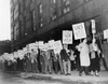 Picket Line Of The Newspaper Guild Of New York In 1950. The Journalist'S Union Shut Down The Scripps Howard'S 'New York World-Telegram And The Sun' For 71 Days. The Crafts Unions Supported Their Strike History - Item # VAREVCHISL038EC501
