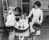 A Dentist Examining A Young Girl'S Teeth In 1942. History - Item # VAREVCHISL019EC065