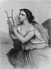 Sappho Ancient Greek Poet Depicted Holding Lyre. 19Th Century Engraving. History - Item # VAREVCHISL005EC074
