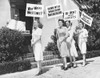The Lane Sisters With Gail Page Protest Famous Hollywood Costume Designer History - Item # VAREVCCSUB001CS841