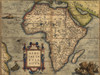 1570 Map Of Africa By Abraham Ortelius. Map Shows Place Names History - Item # VAREVCHISL001EC077