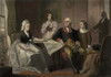 George And Martha Washington Sitting At A Table With Their Grandchildren History - Item # VAREVCHISL010EC186