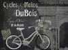 Paris Bike on Chalk Border II Poster Print by Elizabeth Medley - Item # VARPDX10604K
