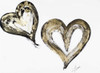 Two Gold and Black Hearts Poster Print by Gina Ritter - Item # VARPDX12857