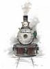 Antique Locomotive Poster Print by Patricia Pinto - Item # VARPDX12391