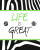 Green Zebra Sayings II Poster Print by SD Graphics Studio - Item # VARPDX10425CC