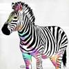 Zebra Head Colorful Poster Print by OnRei - Item # VARPDXONSQ077B