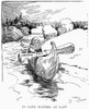 Cartoon: Income Tax, 1913. /N'In Safe Waters At Last.' A Favorable Cartoon Comment On The Ratification That Year Of The 16Th Amendment To The Constitution, That Permits Congress To Tax Individual Incomes. Cartoon, 1913. Poster Print by Granger Collec