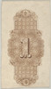 """Banknote motif: ornamental number 1 against a panel of lathe work elements  adjoining a band of mosaic style ornament  its ends adorned with leaves  flowers  grapes and ribbons Poster Print by Associated with Cyrus Durand (American  1787  """"1868) (18"""