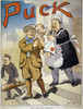 T. Roosevelt Cartoon, 1909. /Nan American Cartoon Of 1909 Showing Theodore Roosevelt Leaving The White House Confident That His Policies Will Be Continued By His Successor, William Howard Taft. Poster Print by Granger Collection - Item # VARGRC000863