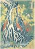 Item # MET56139 Kirifuri Waterfall at Kurokami Mountain in Shimotsuke (Shimotsuke Kurokamiyama Kirifuri no taki)  from the series A Tour of Waterfalls in Various Provinces (Shokoku taki meguri) Poster Print by Katsushika Hokusai (Japanese  Tokyo (Edo