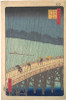 Item # MET37386 Ohashi Atake no yudachi Sudden Shower over Shin-Ohashi Bridge and Atake (Ohashi Atake no yudachi)  from the series One Hundred Famous Views of Edo (Meisho Edo hyakkei) Poster Print by Utagawa Hiroshige (Japanese  Tokyo (Edo) 1797  �18