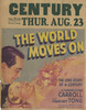 The World Moves On Movie Poster (11 x 17) - Item # MOV294645