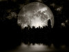 3D rendering. Full moon over night city. Poster Print by Bruce Rolff/Stocktrek Images - Item # VARPSTRFF200383S
