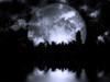 3D rendering. Full moon over night city. Poster Print by Bruce Rolff/Stocktrek Images - Item # VARPSTRFF200455S