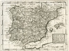 1731 Map Of Spain And Portugal By Herman Moll. Poster Print by Ken Welsh / Design Pics - Item # VARDPI2221167