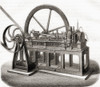 A 19th Century Gas Fuelled Engine.  From Les Merveilles De La Science, Published C. 1870 Poster Print by Ken Welsh / Design Pics - Item # VARDPI12290029