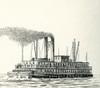 A 19th Century North American Riverboat.  From Enciclopedia Ilustrada Segui, Published C. 1900 Poster Print by Ken Welsh / Design Pics - Item # VARDPI12323511