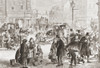 An icy cold day in London, England in the 19th century. From L'Univers Illustre published 1867. Poster Print by Ken Welsh / Design Pics - Item # VARDPI12332653