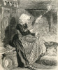 A Breton Peasant Woman Spinning Wool In The 19Th Century. From French Pictures By The Rev. Samuel G. Green, Published 1878. Poster Print by Ken Welsh / Design Pics - Item # VARDPI1958590