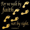 Walk By Faith 3 Poster Print by Alonzo Saunders - Item # VARPDXASSQ091E3