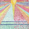 Sunburst of Flowers Poster Print by Joan E. Davis # 63988